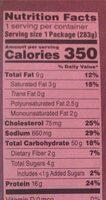 Shrimp scampi - Informations nutritionnelles - en