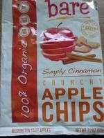 Bare, 100% organic crunchy apple chips, simply cinnamon - Product - en