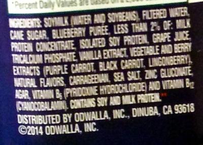 Blueberry protein - Ingrédients - en