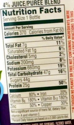 Blueberry protein - Informations nutritionnelles - en