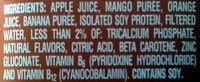 mango protein flavored soy protein shake - Ingredients