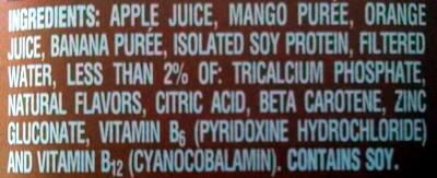 mango protein flavored soy protein shake - Ingredients - en