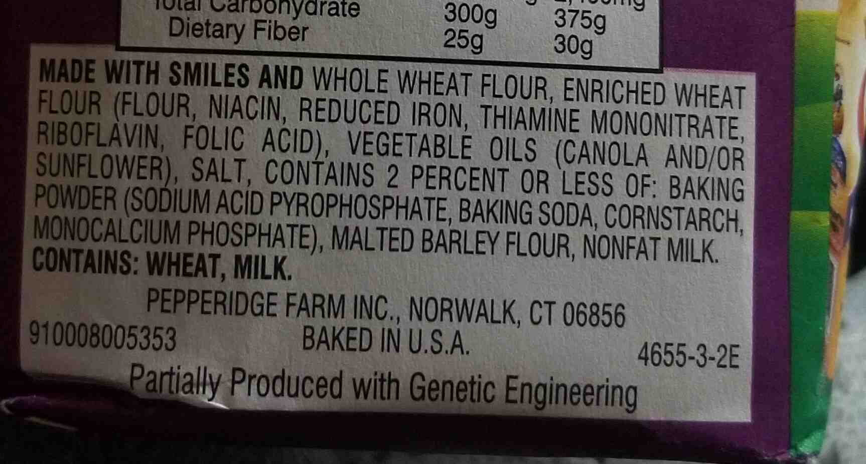 Pepperidge farm crackers pretzel - Ingredients - en