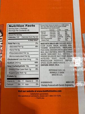 Goldfish - Ingrediënten - en