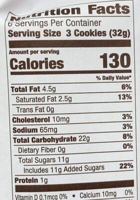 Blueberry thumbprint cookies - Valori nutrizionali - en