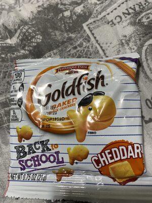 Baked snack crackers, cheddar - Product - en