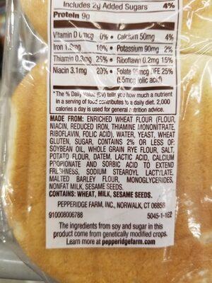 sourdough bread - Ingrediënten - en