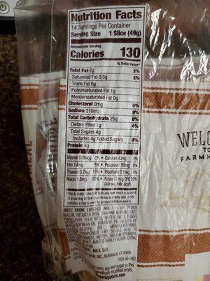 Farmhouse Oatmeal - Voedingswaarden - en