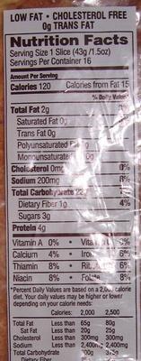 Farmhouse Oatmeal - Nutrition facts
