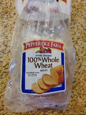 Pepperidge farm, 100% whole wheat bread - Product - en