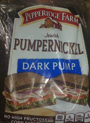 Pumpernickel bread, dark pump - 1