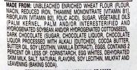 Pepperidge farm cookies - Ingrediënten - en