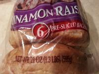 Bagels, cinnamon raisin - Product - en
