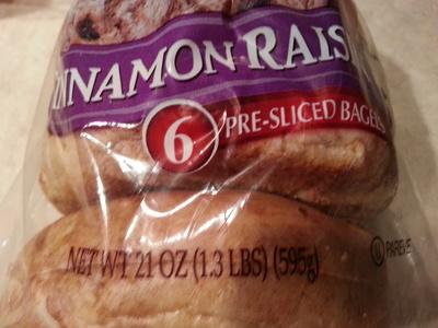 Bagels, cinnamon raisin - Product