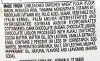 Pepperidge farm cookies mint - Ingrediënten - en