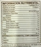 Pepperidge farm cookies mint - Información nutricional - es