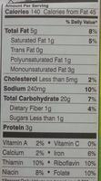 Pepperidge farm crackers cheddar - Nutrition facts - en