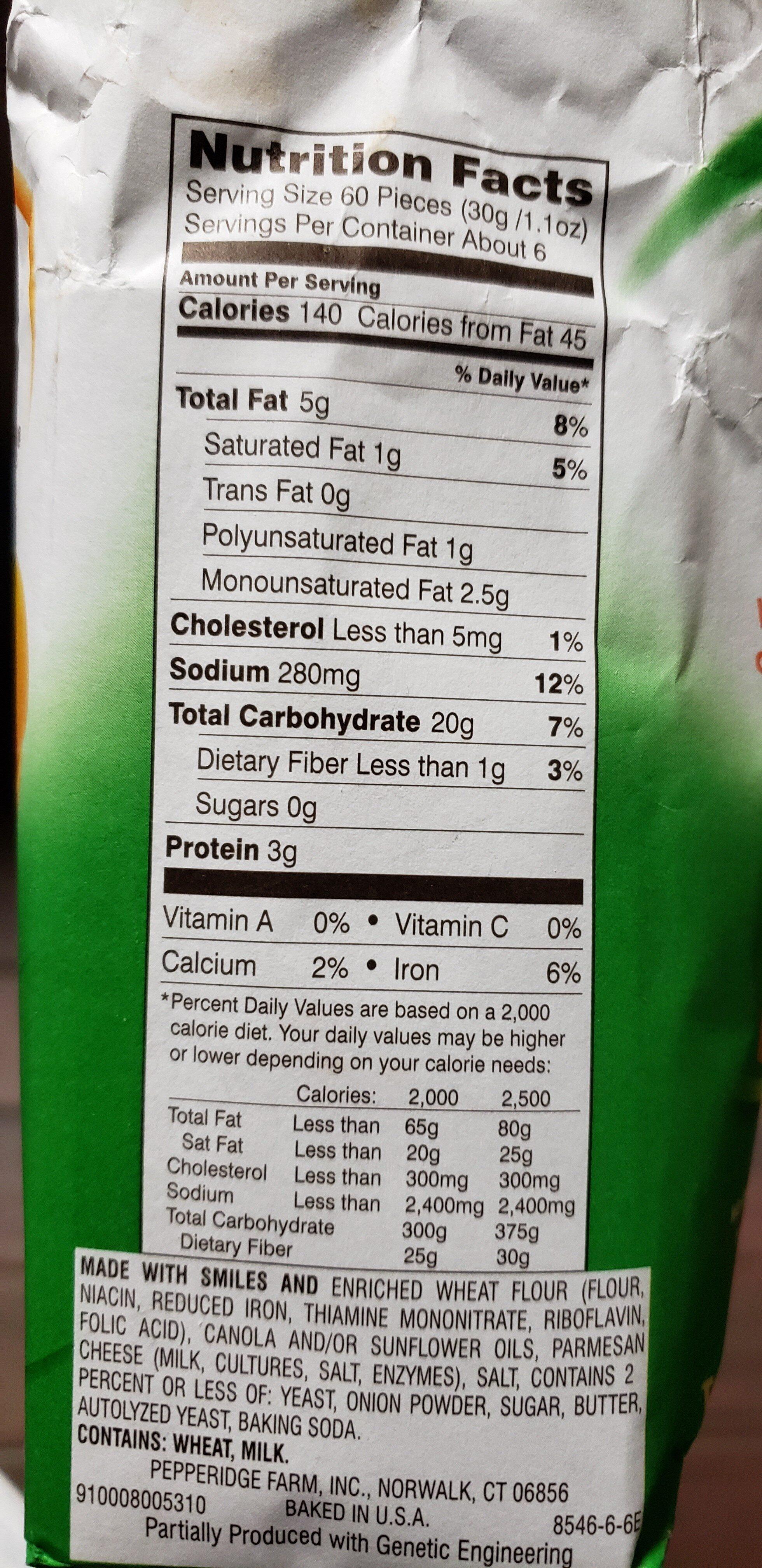 Goldfish - Nutrition facts - en