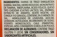 Pepperidge farm crackers cheddar - Ingredientes - es