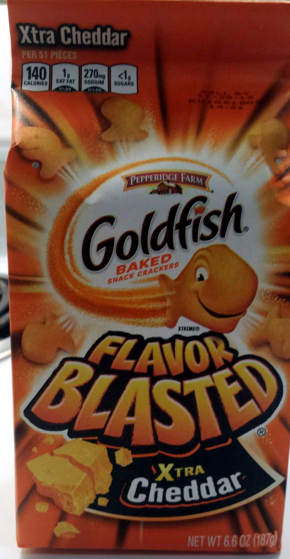 Goldfish Flavor Blasted Xtra Cheddar - Product