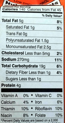 Goldfish Flavor Blasted Xtra Cheddar - Nutrition facts