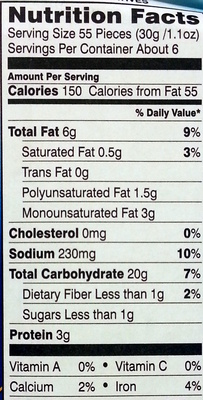Pepperidge farm crackers - Informations nutritionnelles - en