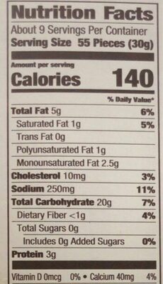 Goldfish baked snack crackers - Nutrition facts - en