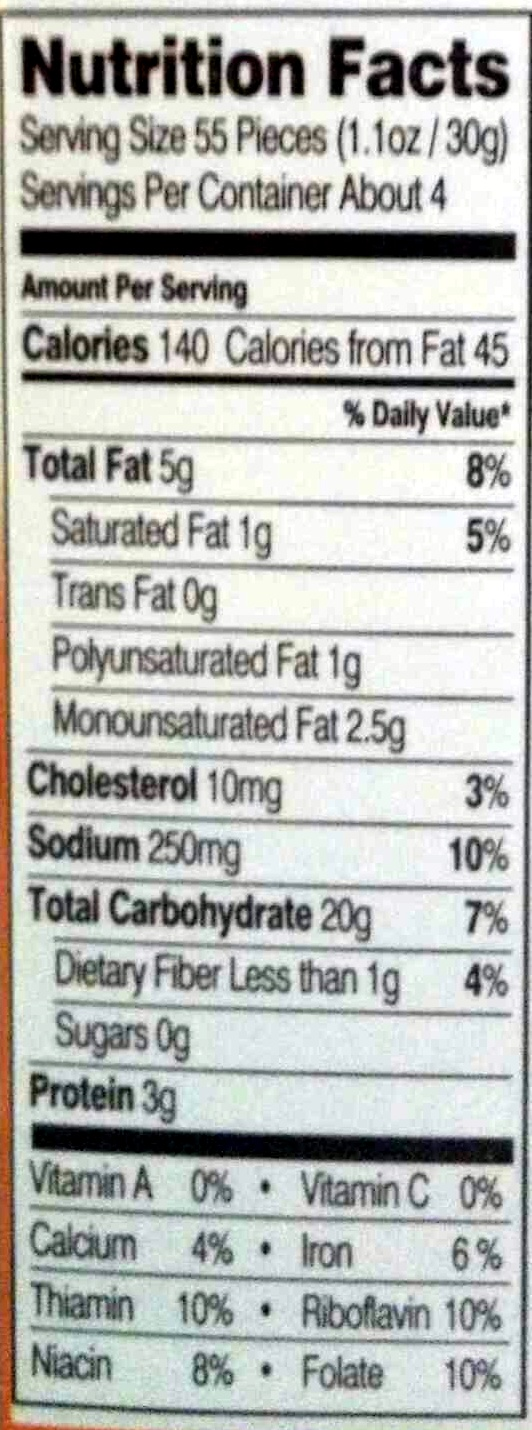 Goldfish au cheddar - Nutrition facts - en