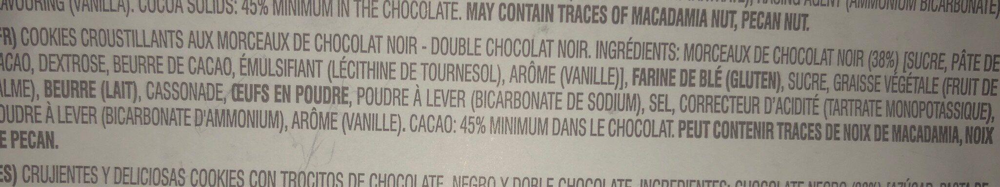 Chocolate Chunk Dark Double Chocolate Crispy Cookies - Ingrediënten - fr
