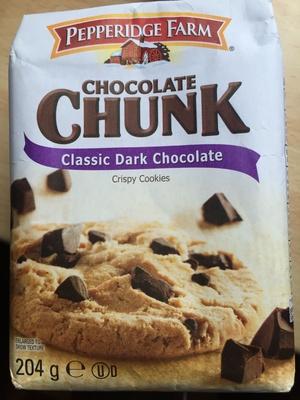 Chocolate chunk classic dark chocolate crispy Cookies - Producto