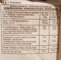 Chocolate chunk classic dark chocolate crispy Cookies - Voedingswaarden - fr