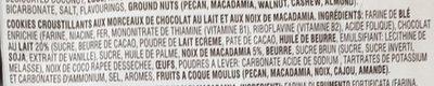 Chocolate Chunk Milk Chocolate Macadamia Crispy Cookies - Ingredienti - fr