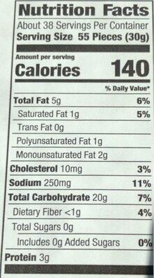 Goldfish goldfish - Nutrition facts - en