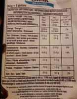 Cookies soft baked - Voedingswaarden - fr