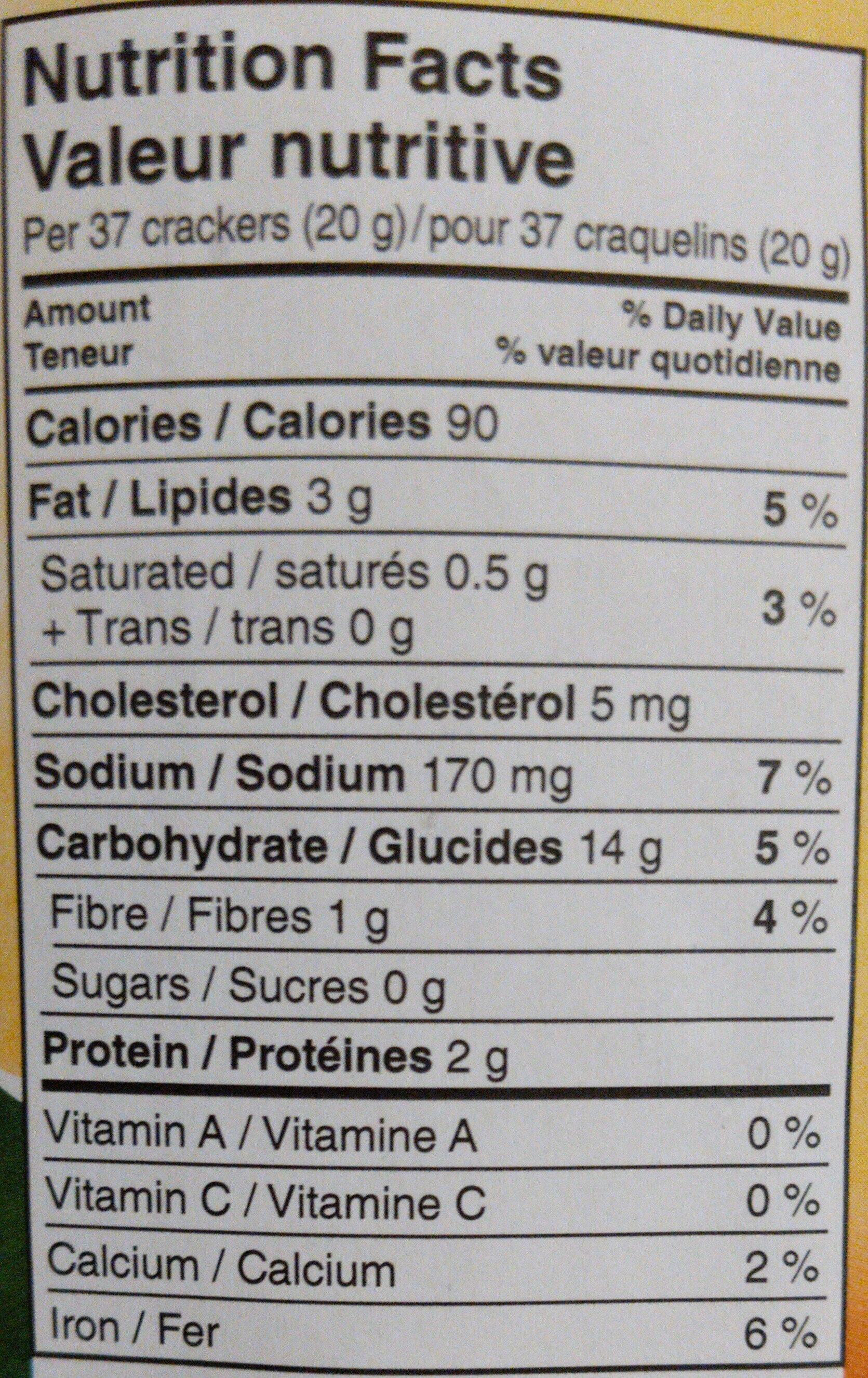 Goldfish Cheddar - Informations nutritionnelles - en