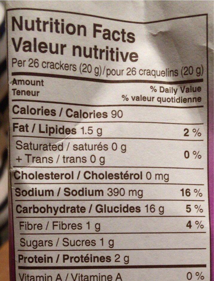 Goldfish - Voedingswaarden - fr