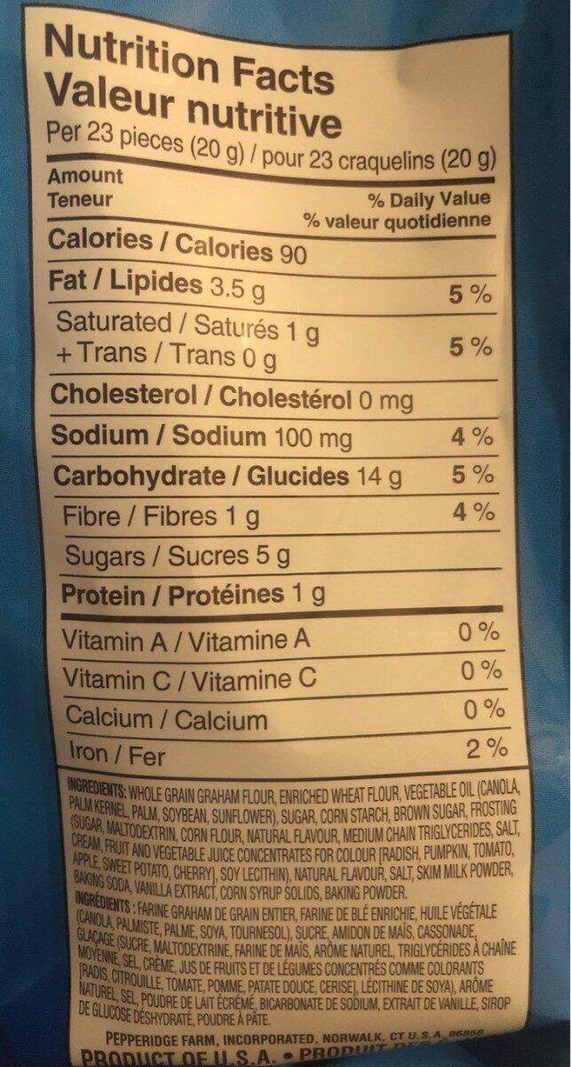 Vanilla Cupcake Goldfish grahams - Voedingswaarden - fr