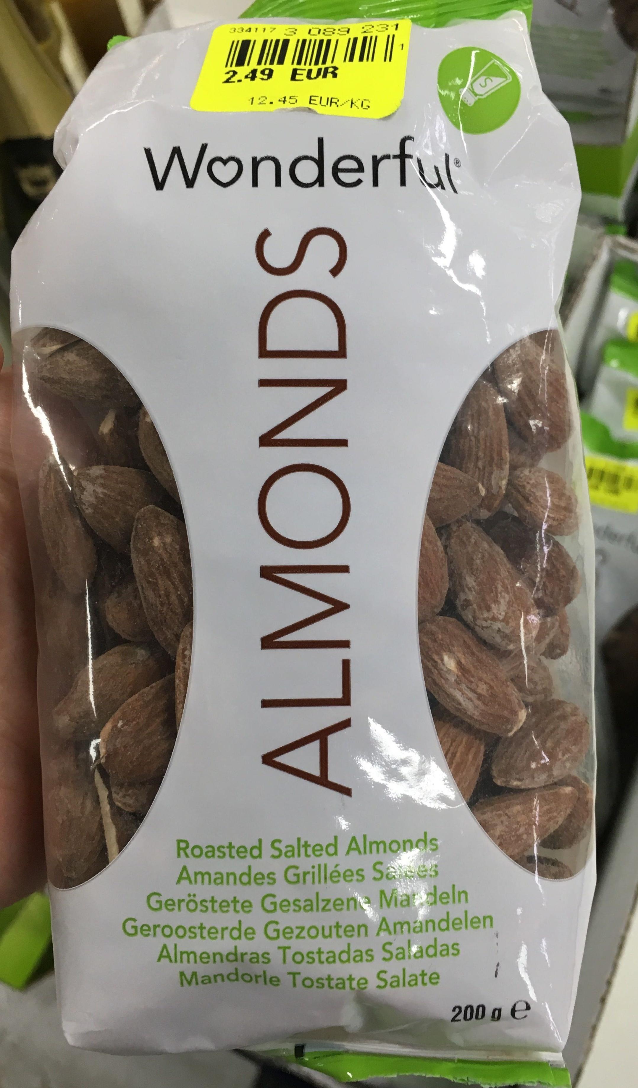 almonds amandes grill es sal es wonderful 200 g. Black Bedroom Furniture Sets. Home Design Ideas