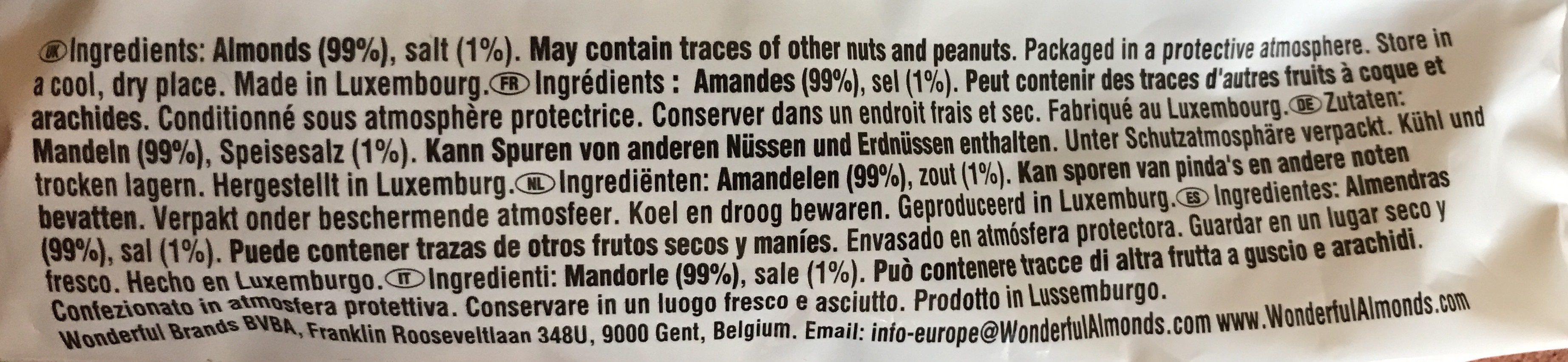 Roasted Salted Almonds - Ingrediënten - fr