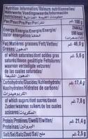 Pistaches XXL Poivre & Sel - Nutrition facts