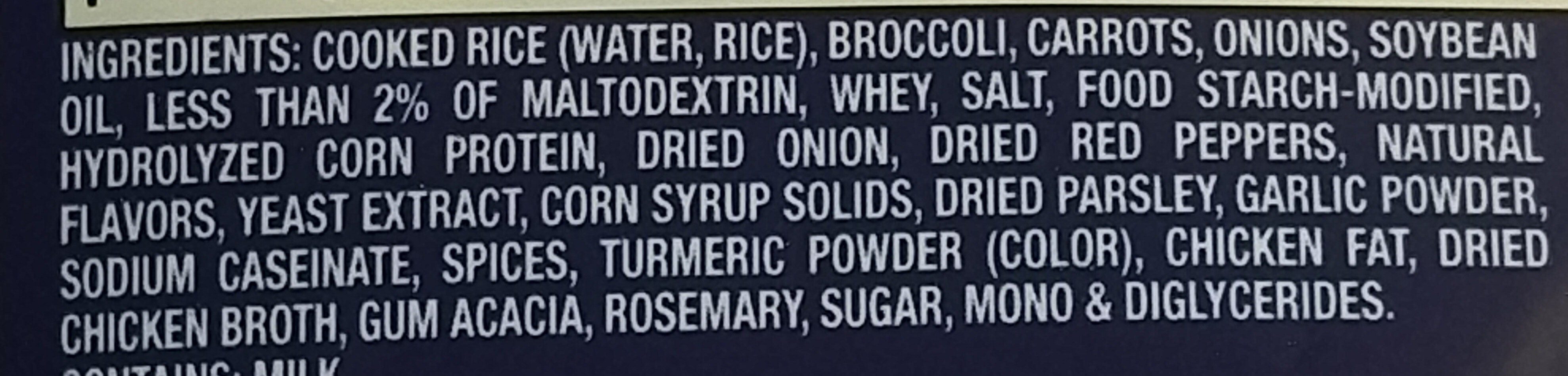 Lightly seasoned chicken flavored rice - Ingredients - en