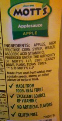 Applesauce - Ingredients - en
