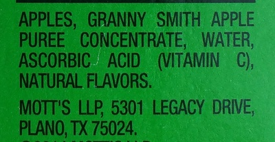 Unsweetened applesauce - Ingredients - en