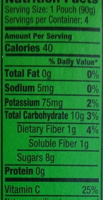 Unsweetened applesauce - Nutrition facts - en