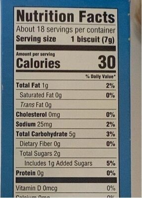 Lil' biscuits - Nutrition facts - en