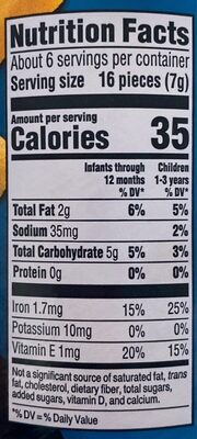 Lil' crunchies baked corn snack - Nutrition facts - en