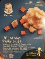 P'tits plats Purée de pommes de terre et sauce avec poulet - Produit - fr