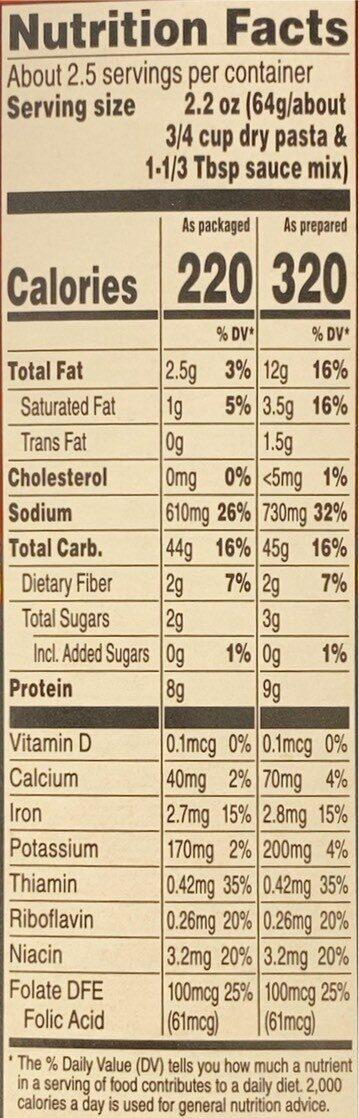 Cheetos Mac'N Cheese - Informations nutritionnelles - en