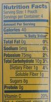 Applesauce Natural - Nutrition facts - en
