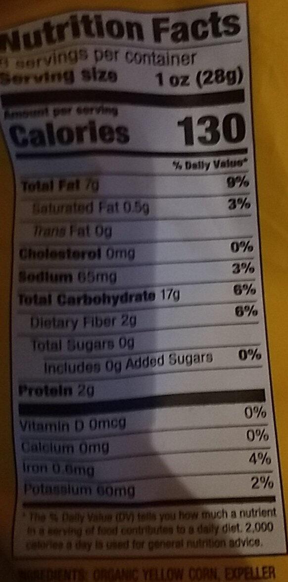 Yellow Chips - Informations nutritionnelles - en